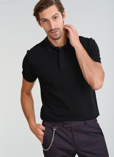 People By Fabrika Polo Yaka Tişört Siyah